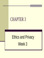 PPT3 - Ethics, Privacy & Information Security.ppt