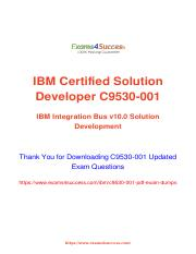 IBM C9530-001 Exam Practice Test Software.pdf