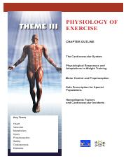 Theme III - Physiology of Exercise_ab43eaf