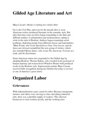 gilded age essay outline Essays and criticism on mark twain, charles dudley warner's the gilded age - the gilded age.