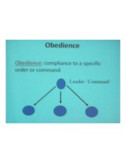 PSYCH 360 Social Psychology - Obedience