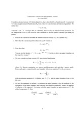 Statistical Mechanics and Rationing Class Notes week 3
