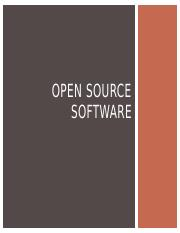 OPEN SOURCE SOFTWARE.pptx