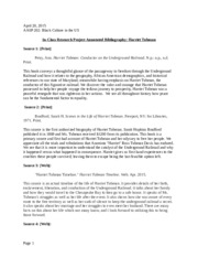 Annotated Bibliography Harriet Tubman.docx