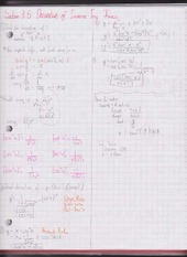 Chapter 3.5 Derivative of Inverse Trig. Functions