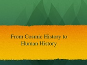 Notes on Human History