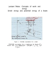 Lecture 7 Notes Concept of Work and Energy