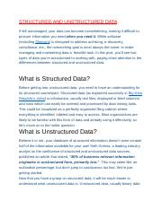 STRUCTURED AND UNSTRUCTURED DATA.docx