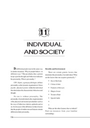 individuals and society