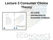 Lecture 03 - Consumer Choice
