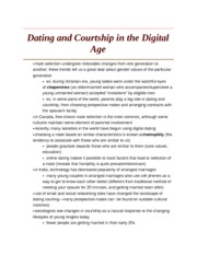 Dating and Courtship in the Digital Age