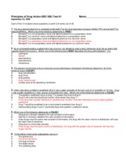 Exam 1 Fall 2009 - Answers