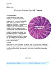 Workplace Analysis Report