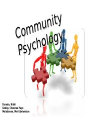 WHAT COMMUNITY PSYCHOLOGY IS.pot