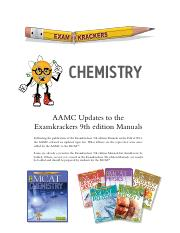 AAMCupdates-Chemistry