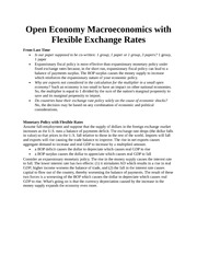 Open Economy Macroeconomics with Flexible Exchange Rates