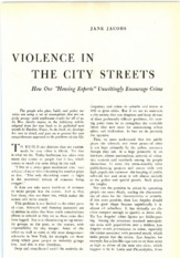 P1 Violence in the City Streets