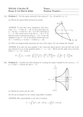 Exam 2 Solution Spring 2002 on Calculus II