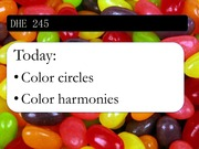 Color circles and color harmonies
