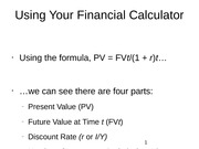 Using Your Financial Calculator