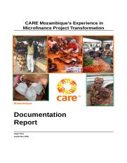 CARE Mozambique and MicroFinance.doc