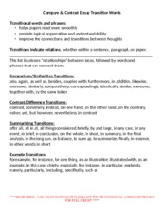 Compare Contrast Transition Terms.docx