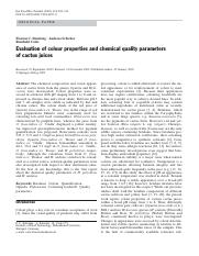 12. Stintzing et al., 2003. Evaluation of colour properties and chemical quality parameters of cactu