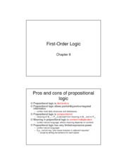 Chapter8 First Order Logic