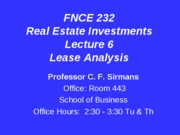 Lecture+6+FNCE+232+Lease+Analysis