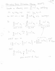 SERIES ESTIMATION THEOREM- NOTE