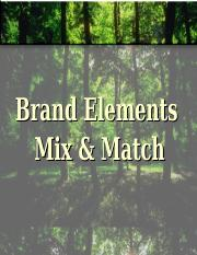 Brand Elements Mix and Match