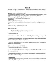 Test 1 Notes Early Civilizations in the Middle East and Africa
