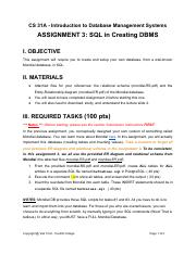 Assignment3-SQLinCreatingDBMS-1