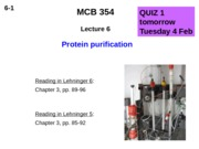 MCB 354 Protein Purification Lecture
