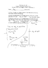 Exam 1 Fall 2000 Solution on Organic Chemistry II