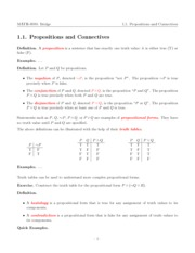 Lecture 1.1 - Propositions and Connectives
