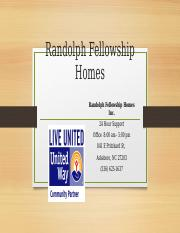 Randolph Fellowship Homes