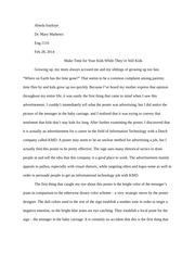 fear essay