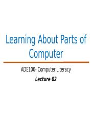 ADE Lecture 02