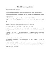 Tutorial 6 answer guidelines