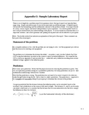 12 Appendix G - Sample Laboratory Report
