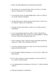 Printables Acceleration Worksheet With Answers acceleration problems worksheet davezan with answers davezan