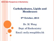 4. Carbohydrates and Lipids