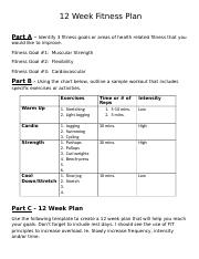 5 Pages 12 Week Fitness Plandoc