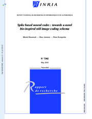 2010 - INRIA - Spike based neural codes - towards a novelbio-inspired still image coding schema