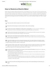 How to Rewind an Electric Motor_ 11 Steps