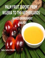 Exporting Palm Fruits from Nigeria to the Netherlands