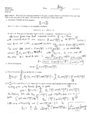 First Exam Questions and Solutions