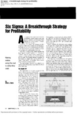 04 Six Sigma A Breakthrough Strategy_111462