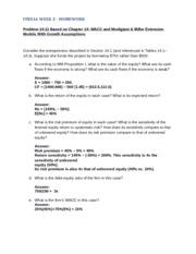 fin516 w1 homework